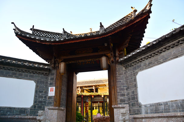 An ornamental gate for a guesthouse - Lijiang and Shangri-La, Yunnan Province, November 2016