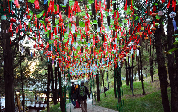 Wind chimes in a park - Lijiang and Shangri-La, Yunnan Province, November 2016