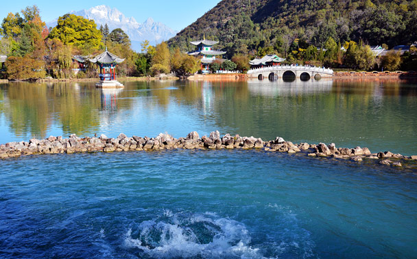 The spring in Black Dragon Park - Lijiang and Shangri-La, Yunnan Province, November 2016