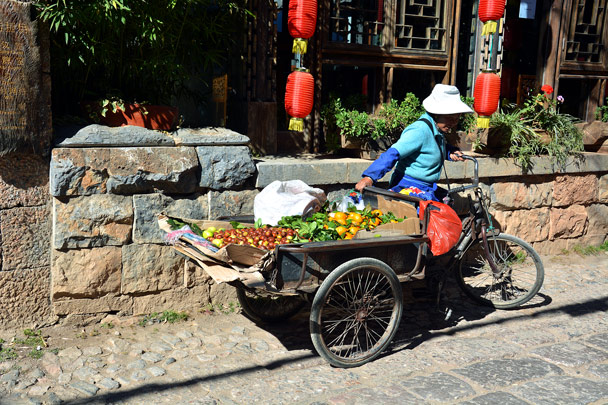 Fruit for sale in another countryside town - Lijiang and Shangri-La, Yunnan Province, November 2016