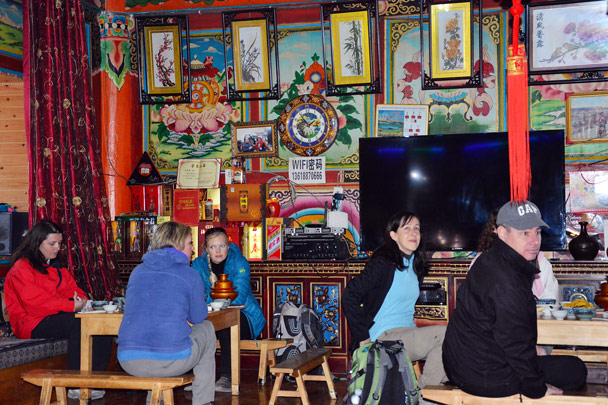 The guesthouse was very colourful inside! - Lijiang and Shangri-La, Yunnan Province, November 2016