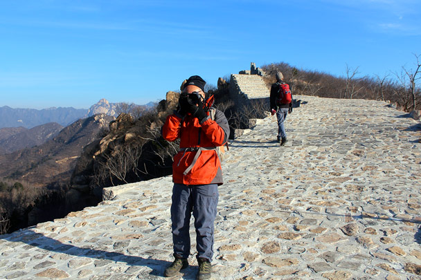 Dennis, one of Beijing Hikers' super members - Longquanyu Loop and Great Wall, 2016/12/19