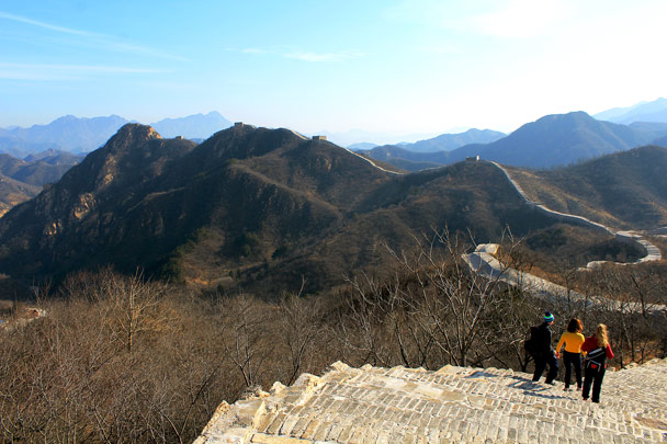 And then looking to the front - Longquanyu Loop and Great Wall, 2016/12/19