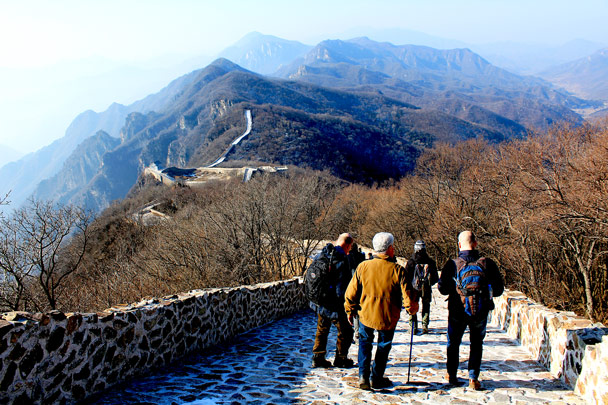 This part is steeper than it looks – lucky it wasn't icy! - Nine Eyes Tower Great Wall, 2016/12/18