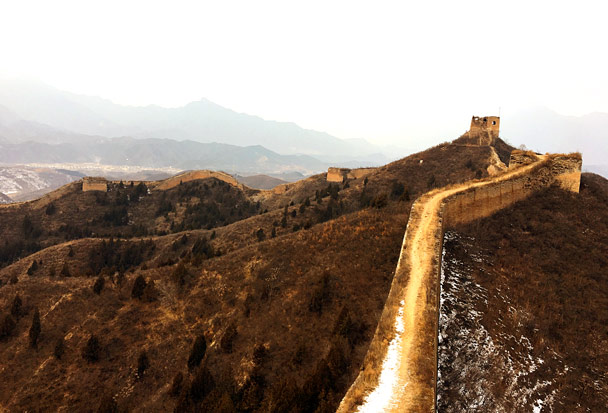 We hiked down the Gubeikou Great Wall - Hemp Village to Gubeikou Great Wall, 2016/12/24