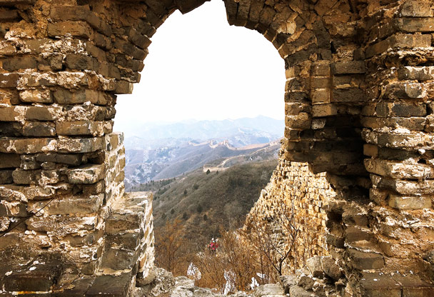 Good spot for a photo here - Hemp Village to Gubeikou Great Wall, 2016/12/24