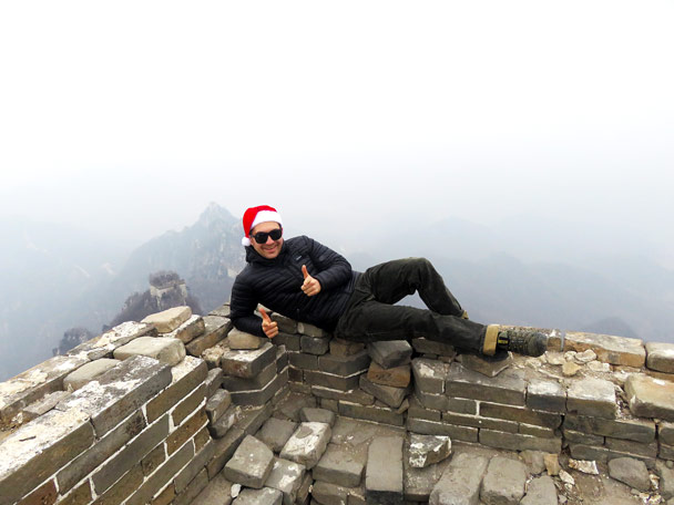 A special way to celebrate Christmas - Christmas on the Great Wall, 2016/12/25
