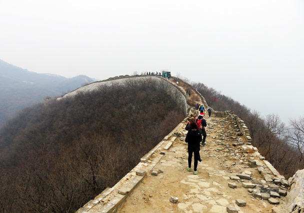 An unrepaired section of the Great Wall - Christmas on the Great Wall, 2016/12/25