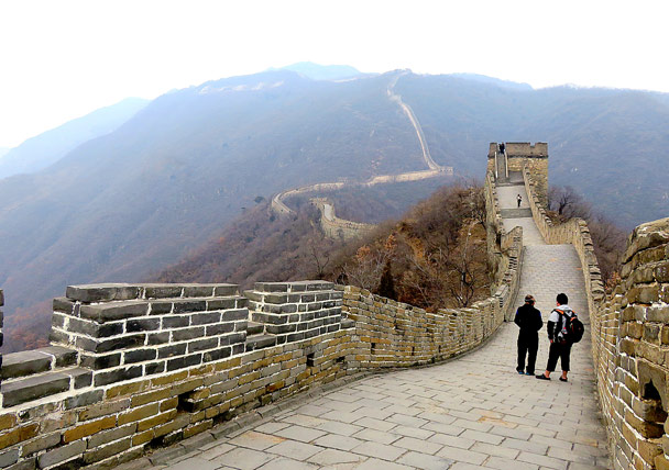 Looking back to the peak part - Christmas on the Great Wall, 2016/12/25