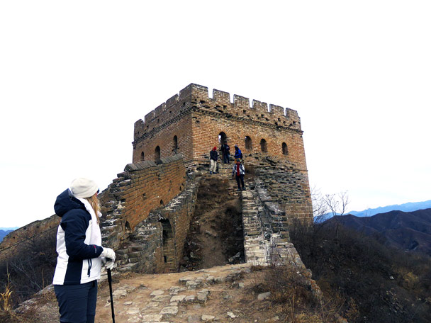 A big watch tower at Jinshanling - Hemp Village to Jinshanling Great Wall, 2016/12/28