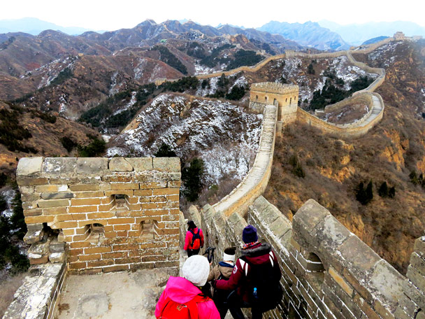 A great view of the wall at Jinshanling - Hemp Village to Jinshanling Great Wall, 2016/12/28