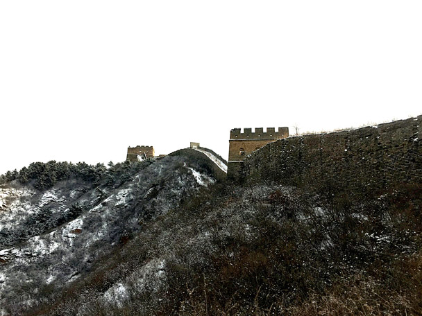Up by the wall - Hemp Village to Jinshanling Great Wall, 2017/1/15