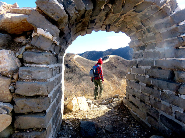 Through an arch - Stone Valley Great Wall, 2017/1/27