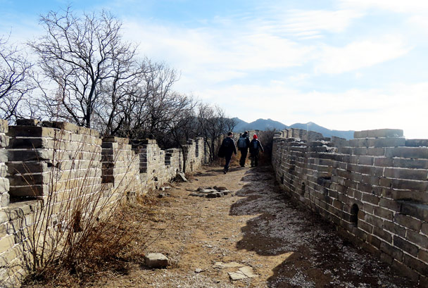 This is a spot we sometimes use for camping. Not in winter, though – way too cold at night! - Stone Valley Great Wall, 2017/1/27