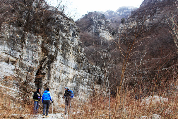 In another valley, on the way up to the 'Big West' Great Wall at Jiankou -