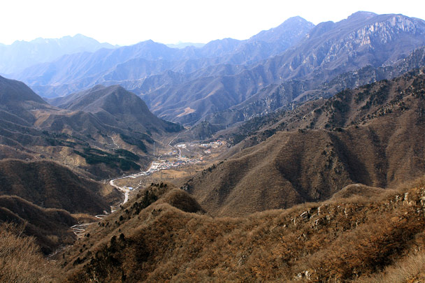 Views back down to Zhuanghu Village -