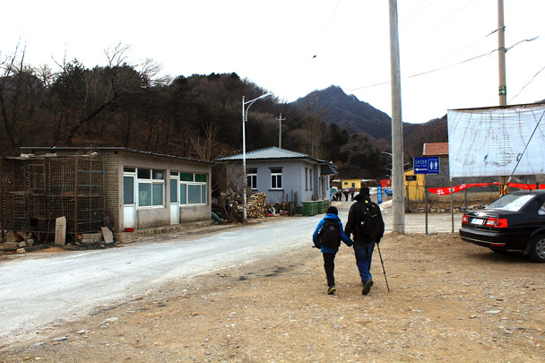 We hiked into the village to finish the walk -