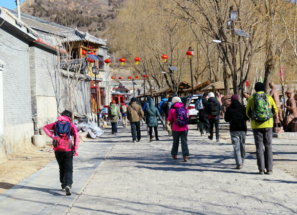 Starting out in Gubeikou Village - Gubeikou Great Wall Loop, 2017/1/30
