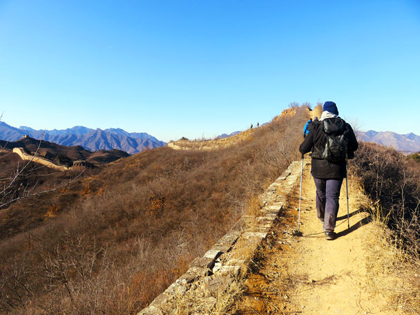 Almost at the end - Gubeikou Great Wall Loop, 2017/1/30