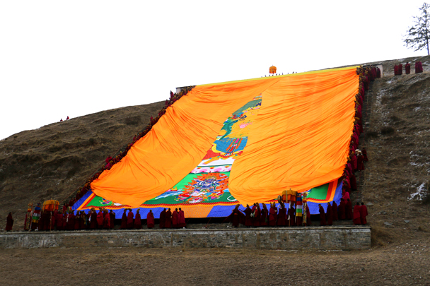 The unveiling is beginning - Labrang Monastery and Xiahe, Gansu