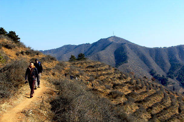 It was a clear and sunny day, not too cold - Hemp Village and the Gubeikou Great Wall, 2017/2/18