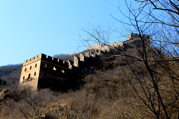 A solid tower on a spur section - Hemp Village and the Gubeikou Great Wall, 2017/2/18