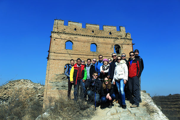 Group shot before heading on - Hemp Village and the Gubeikou Great Wall, 2017/2/18
