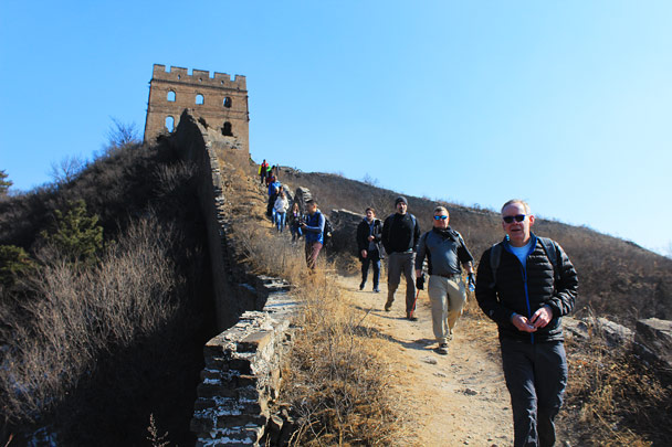Down from the tower - Hemp Village and the Gubeikou Great Wall, 2017/2/18