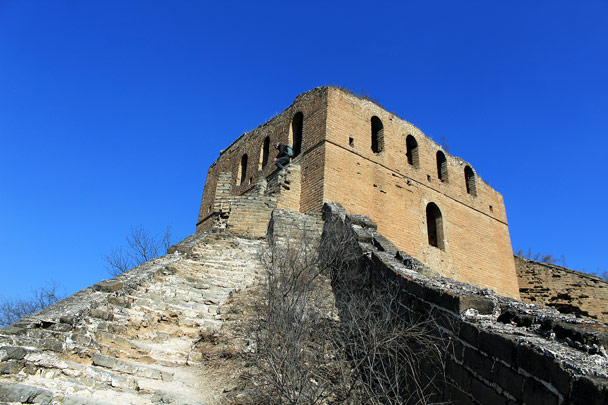 One of the big towers at Gubeikou - Hemp Village and the Gubeikou Great Wall, 2017/2/18