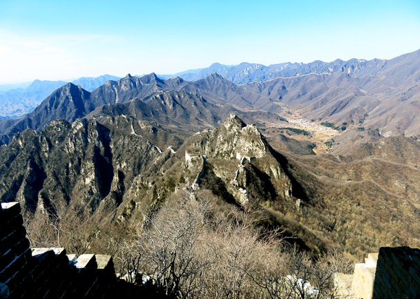 Here's the view from the General's Tower - Jiankou to Mutianyu Great Wall, 2017/3/08