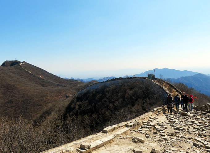 Heading on towards Mutianyu - Jiankou to Mutianyu Great Wall, 2017/3/08