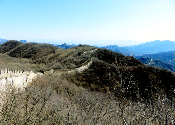 The Mutianyu Great Wall is just over this hill - Jiankou to Mutianyu Great Wall, 2017/3/08