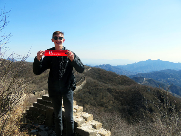 Follow the red ribbons! - Jiankou to Mutianyu Great Wall, 2017/3/08