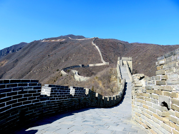 The eastern end of the Mutianyu Great Wall - Jiankou to Mutianyu Great Wall, 2017/3/08