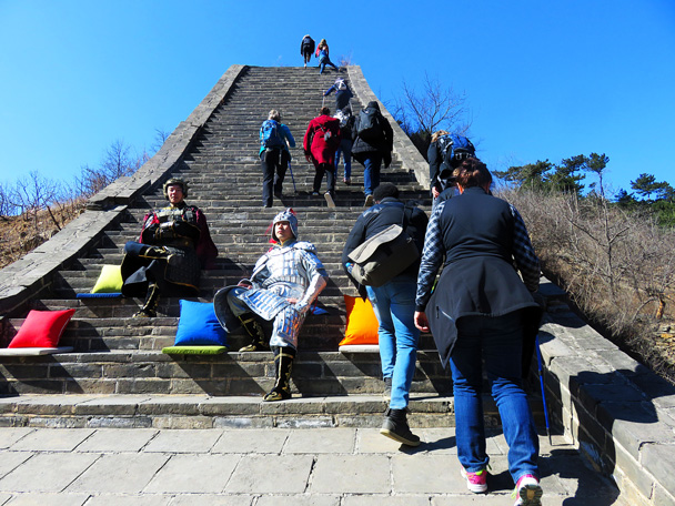 We weren't totally sure what they were filming, but those don't look like authentic Ming Dynasty cushions - Walled Village to the Little West Lake, 2017/3/09