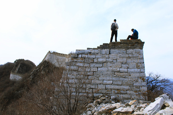 On top of a tower - Jiankou Big West Great Wall, 2017/3/11