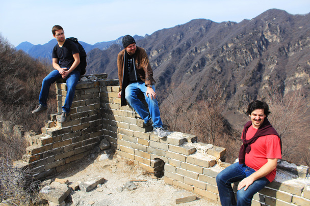 Resting on the remains of a tower - Jiankou Big West Great Wall, 2017/3/11