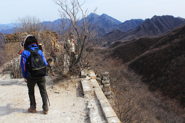 We finished the wall walk here - Jiankou Big West Great Wall, 2017/3/11