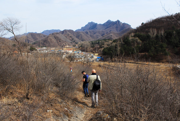 We finished the hike at the village in the distance - Jiankou Big West Great Wall, 2017/3/11