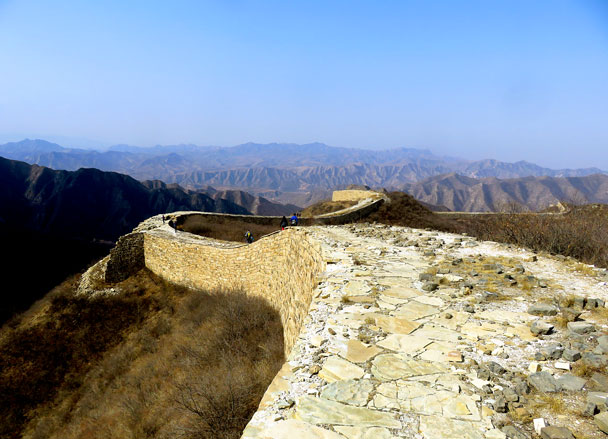 The view from the top section of the Great Wall at Big Plate - Big Camp Plate, 2017/3/18