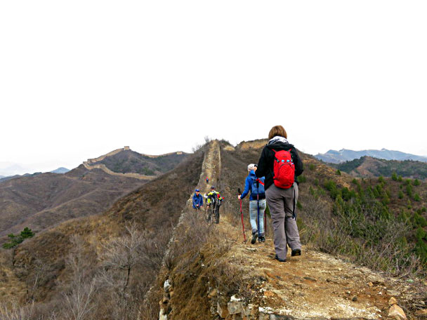On the wall at Gubeikou - Gubeikou and Jinshanling Great Wall camping, 2017/3/25