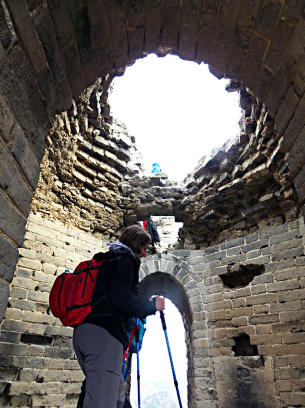 A watch tower with domed roof - Gubeikou and Jinshanling Great Wall camping, 2017/3/25