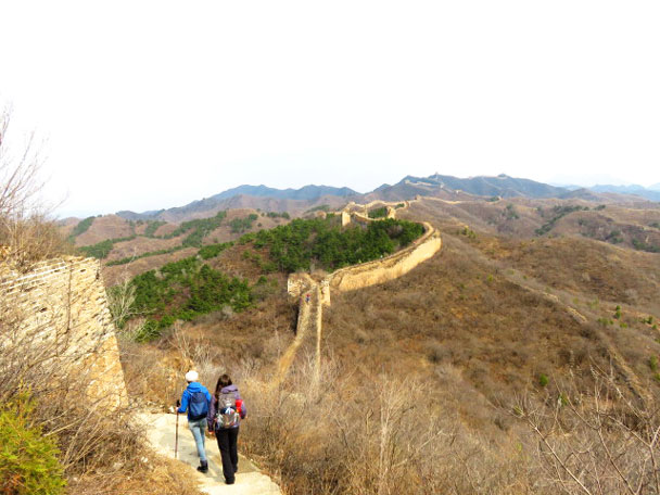 We headed on toward our camp site - Gubeikou and Jinshanling Great Wall camping, 2017/3/25