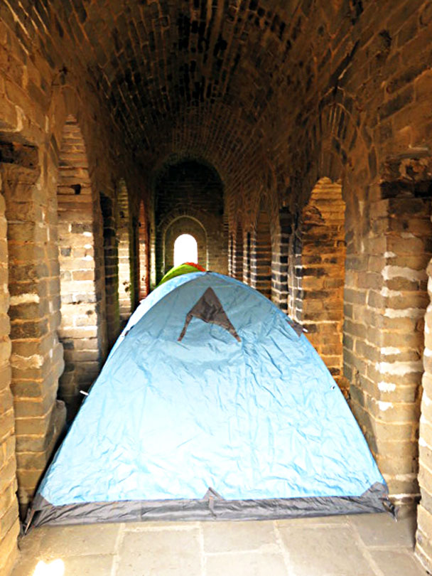 Tents are set up - Gubeikou and Jinshanling Great Wall camping, 2017/3/25