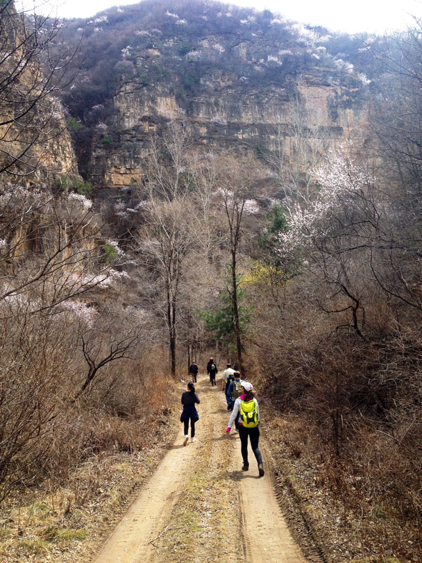 The track through the canyon and up to the village - Cypress Wells Canyon and Yongning Town, 2017/4/09