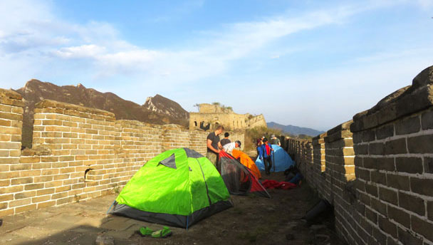 Camping at the Great Wall Spur, 2017/4/19