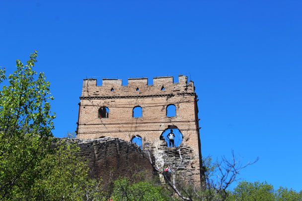 24-Eyes Tower, the place we were able to climb up on to the Great Wall - Hemp Village to Gubeikou Great Wall, 2017/4/23