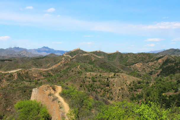 Looking back along the trail - Hemp Village to Gubeikou Great Wall, 2017/4/23