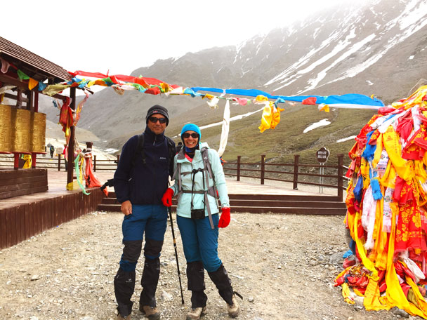 Now we're at the Gangshika Snow Mountain, getting ready for the climb up to the base camp and glacier - Qinghai Lake, Kumbum Monastery, and the Gangshika Snow Mountain, Qinghai Province, 2017/05