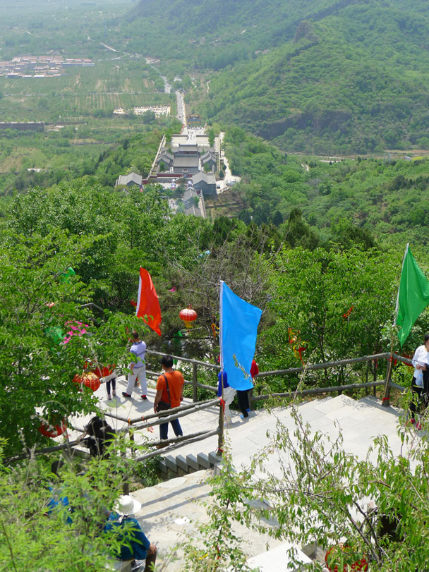 Looking back down - Yajishan Temple Fair, 2017/5/1